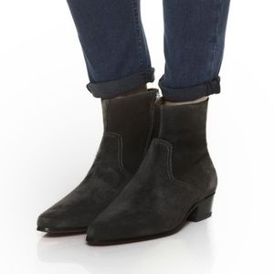 IRO Aisling Suede Ankle Boots Lambskin Leather 393
